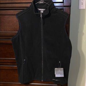 Fleece black vest